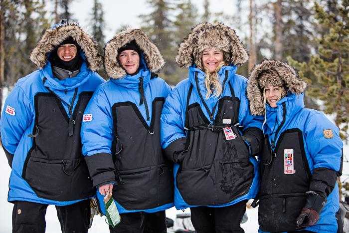 Team Sverige/Norge!  Carl-Johan, Andreas, Andrea och jag. Haha, jag stod i en grop. Om ni undrar :P Foto: Joel Forsman  www.joelforsman.fi