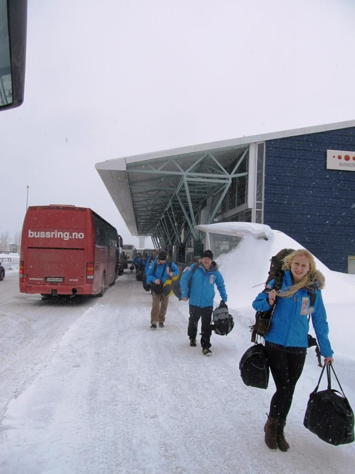 Framme i Tromsö, påväg mot vår buss. Foto: Dirk Hattermann