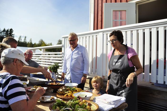 Tommy och Barbro Uhlin på Potatisdagen i Sidensjö :)