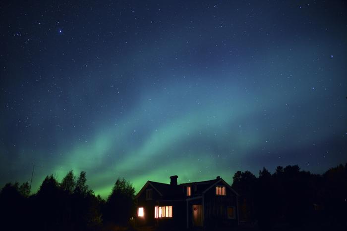 Norrsken över huset där jag bor :)