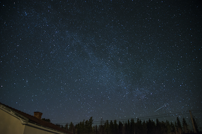 Stjärnhimlen i kväll