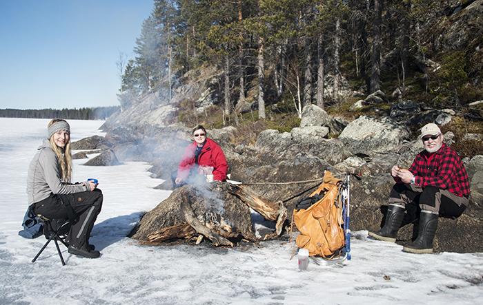 Jag, Inger och Stig under fikapausen :)