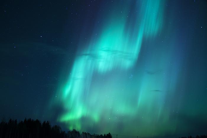 Väldigt starkt norrsken i kväll!