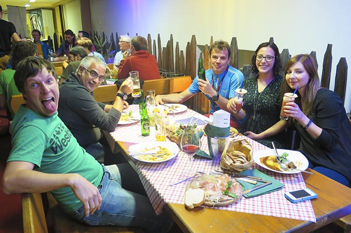 Men middagen blev ändå bra eftersom det var en sådant trevligt och roligt gäng! :)