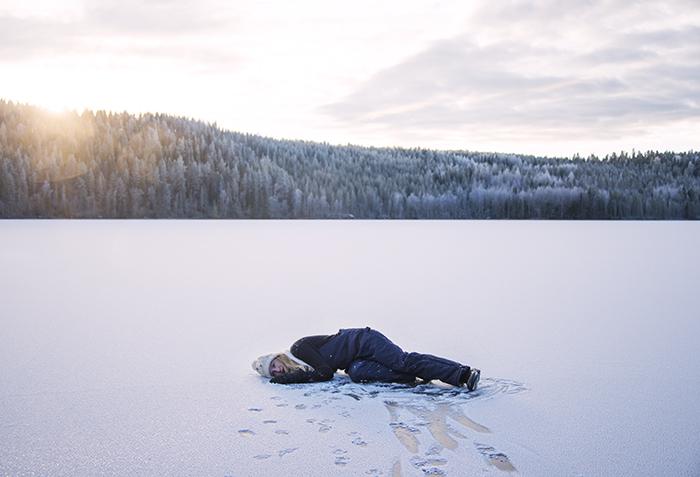 Lyssnar på isens sång.