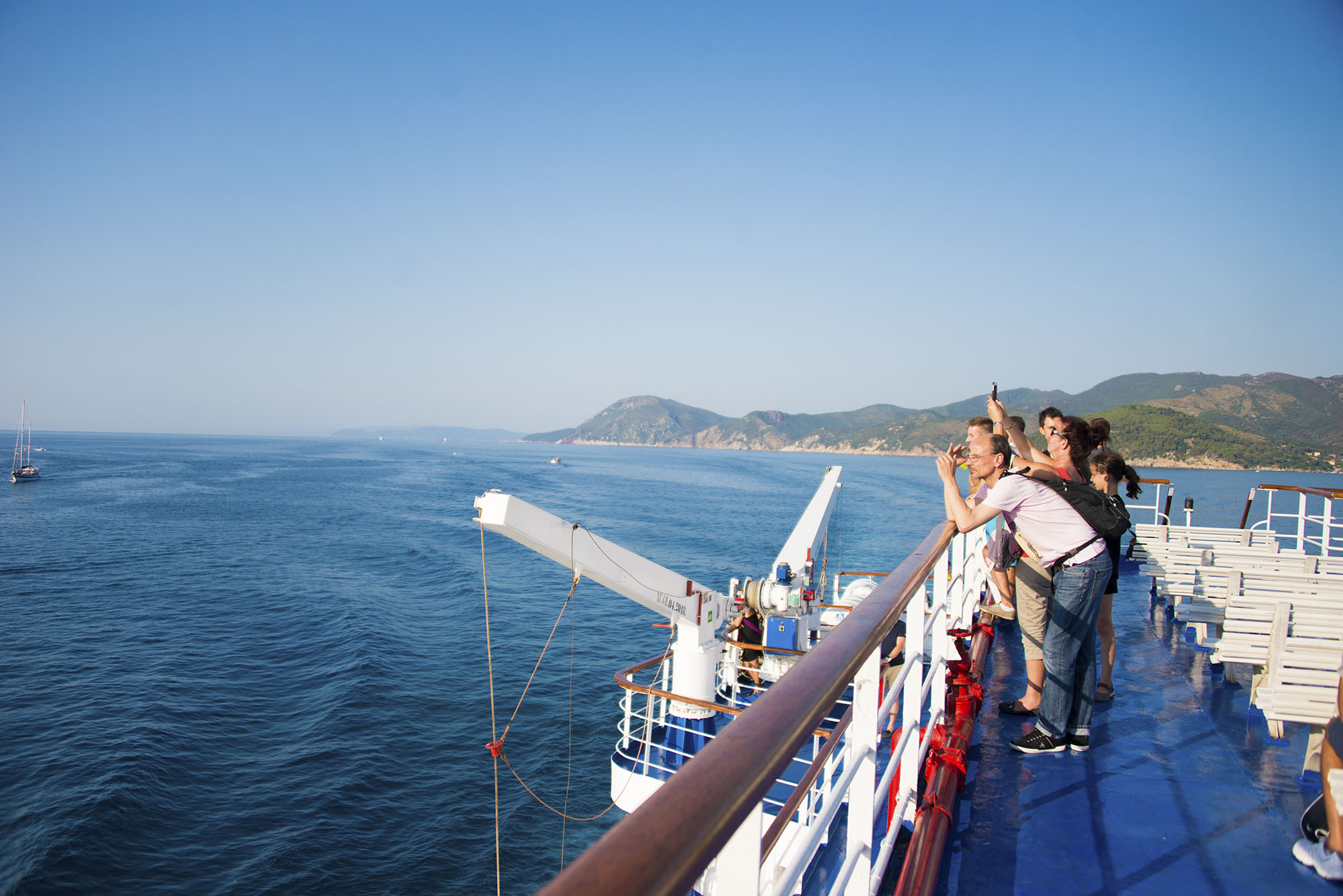 På färjan till Elba