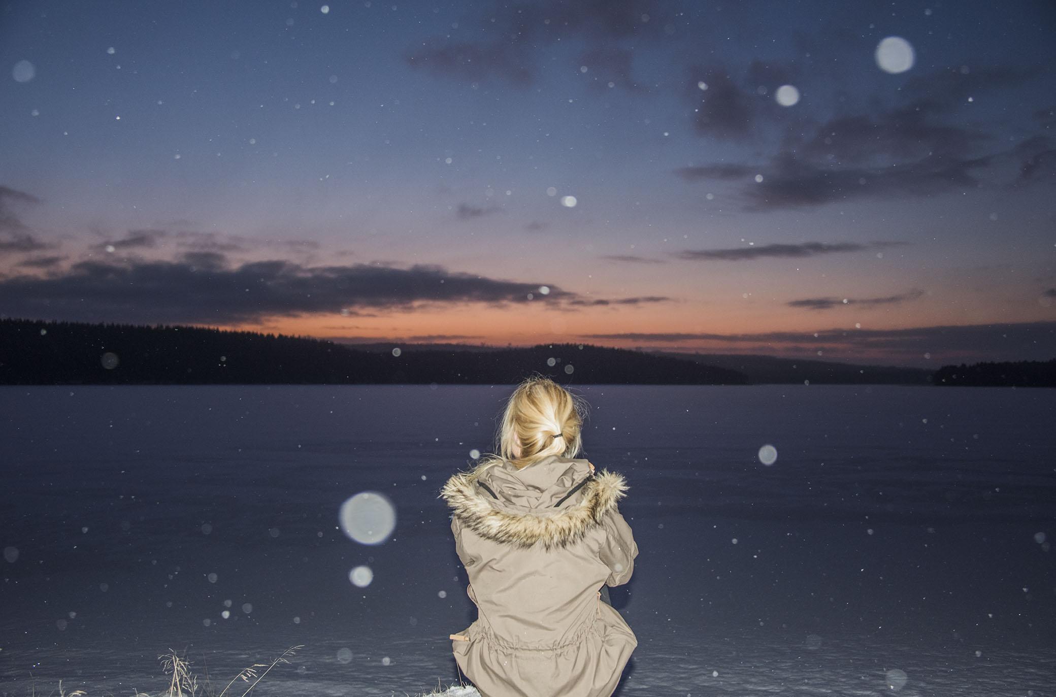 Nere vid isen för att samla lite ny energi.