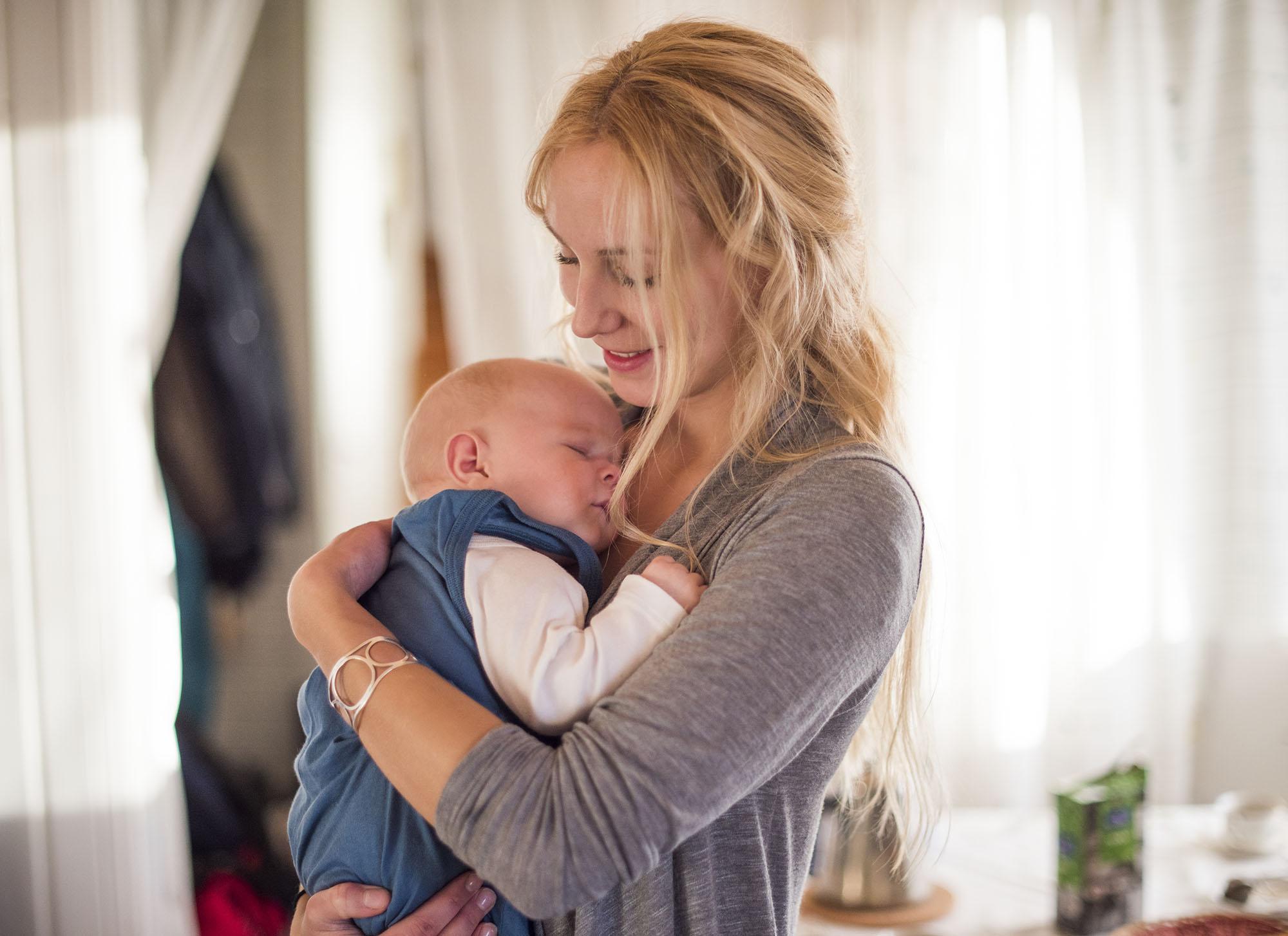 Jag och lilla Malte, som är son till mina vänner Åsa och Arvid.