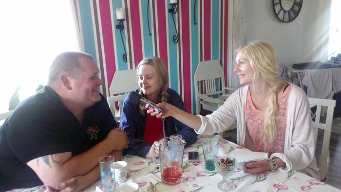 Intervjuar Markus Edlund och Frida Bylund :)