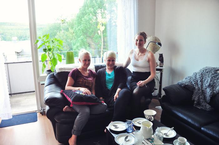 Här har vi från vänster Åsa, Alexandra och Bea! :) Tyvärr fattas Åsas kusin Vincy på kortet då hon åkte lite tidigare.