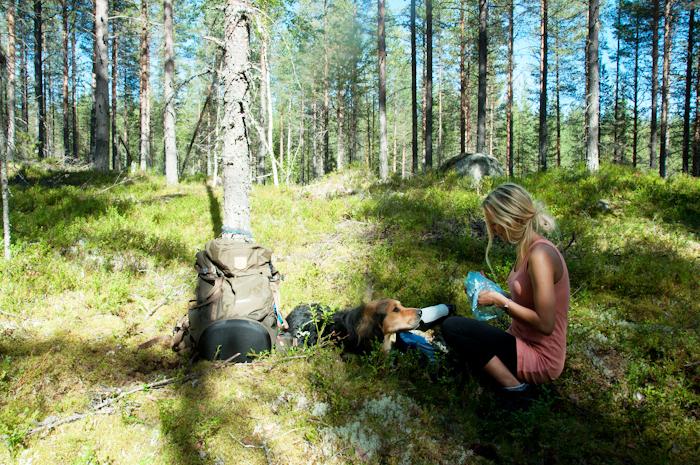 Lunchdags! :) Alltid extra gott att äta ute i skogen på något vis.