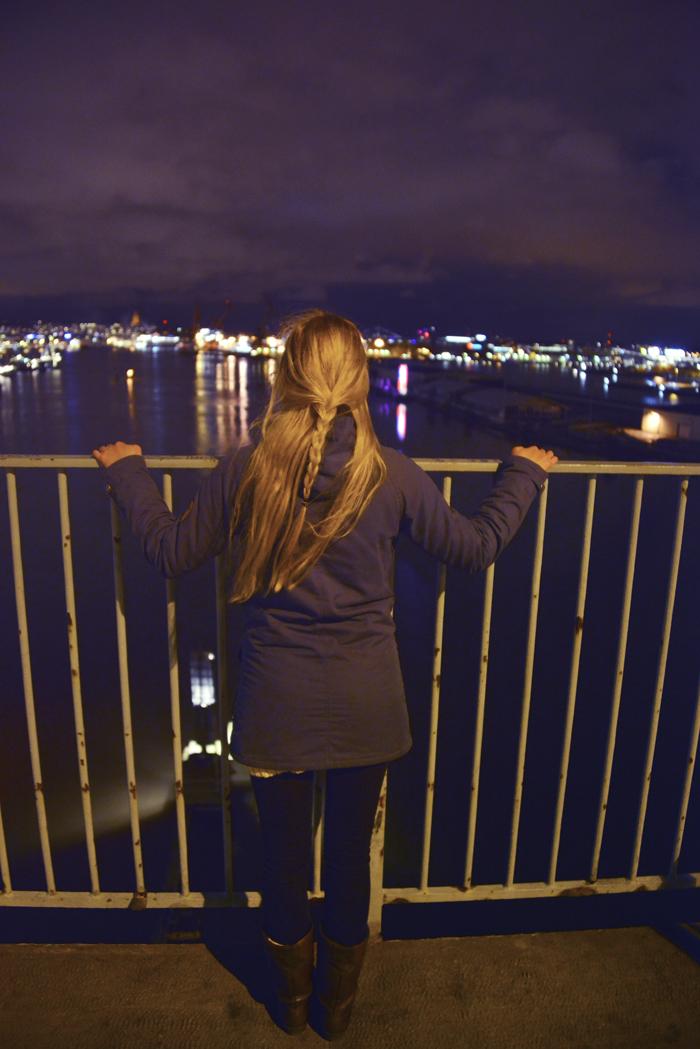I går kväll gick vi till min favoritplats när jag bodde i Göteborg. Götaälvbron. Det var lite känslosamt att stå här igen. En fin stund.
