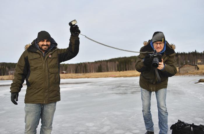 Tomas Izaias Englund och Leif Wikberg. Fotograf Leif Wikberg var även fotografen som var här på första reportaget 2011, och varit fotograf på nästan alla reportage där jag varit med. Alltid kul att träffa honom igen!
