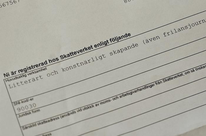 Samma dag fick jag hem mitt registreringsbevis för min enskilda firma som jag då startade. Nu har jag haft mitt företag i ett år.