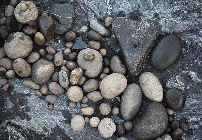 Efter någon timmes sten-letande fick jag ihop några noga utvalda stenar som fick följa med hem till Grundtjärn.