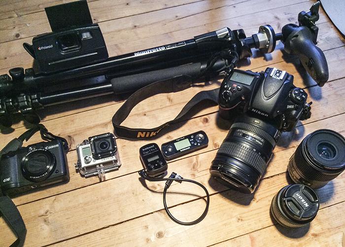 Min kamerautrustning.