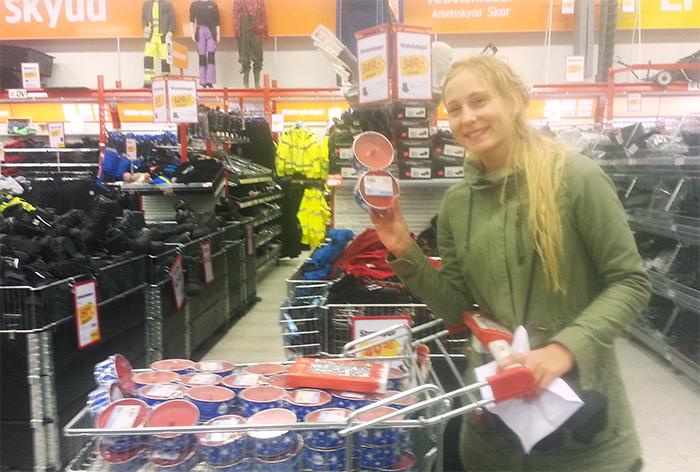 Och hon var med mig till Övik idag när jag köpte marschaller för alla mina pengar :)