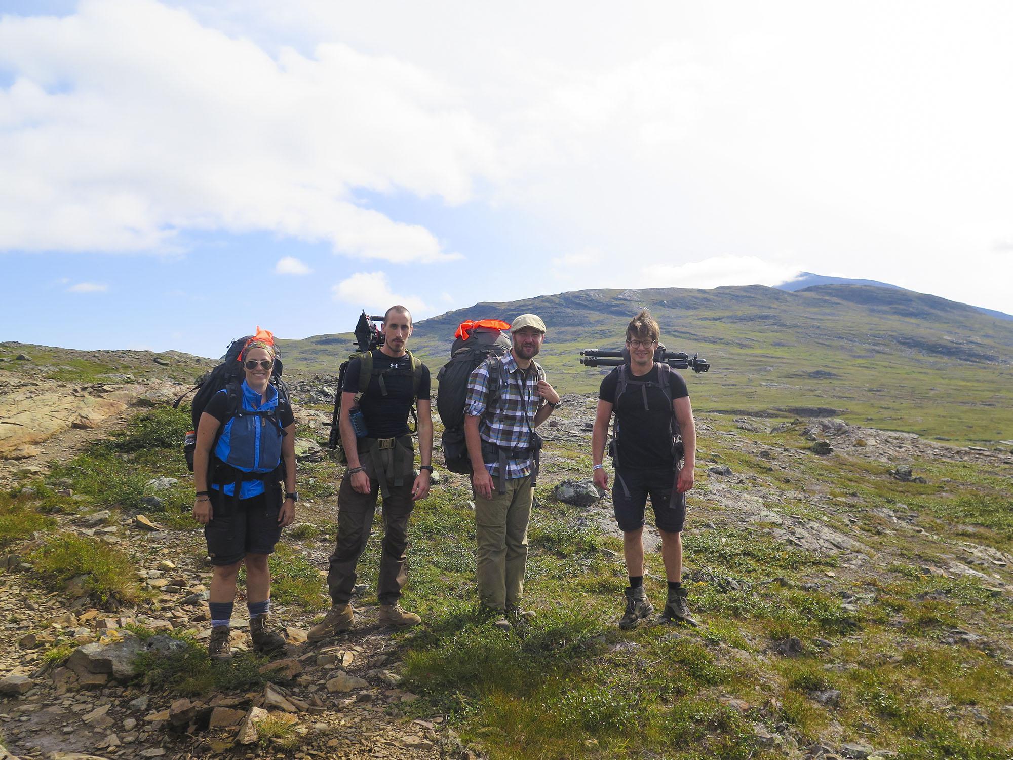 Underbara vandringsvänner! Angeliqa,  Rikard, Johan och Nils.