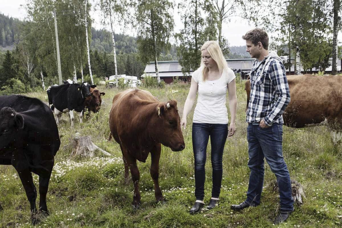 Bönderna Paulina och Charlie West. Foto lånad av Allehanda.se (Fotograf Hanna Persson)