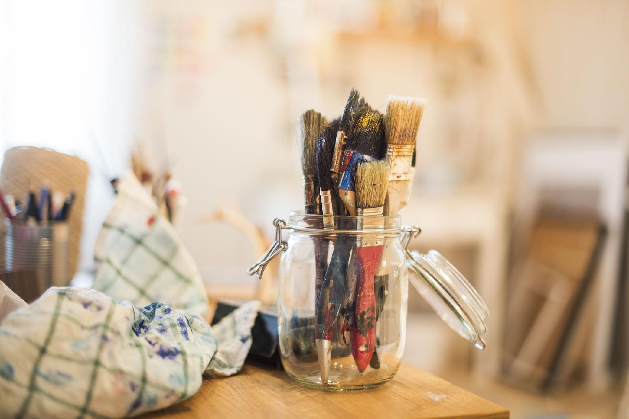 Det kommer göra gott för kreativiteten att få det städat och fint där inne.