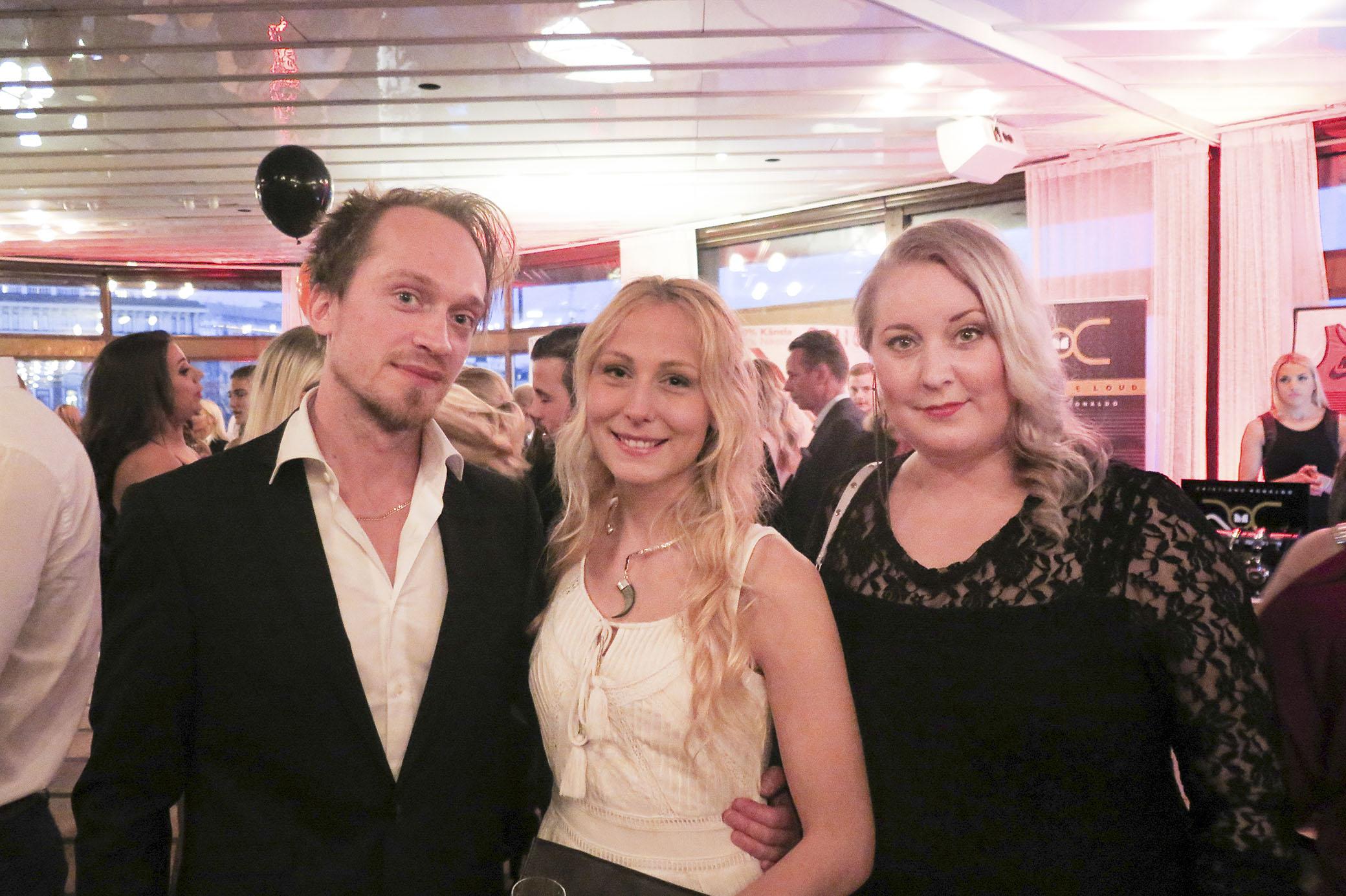 Inne på Finest Awards med min älskade Johan och min fina vän Linda.