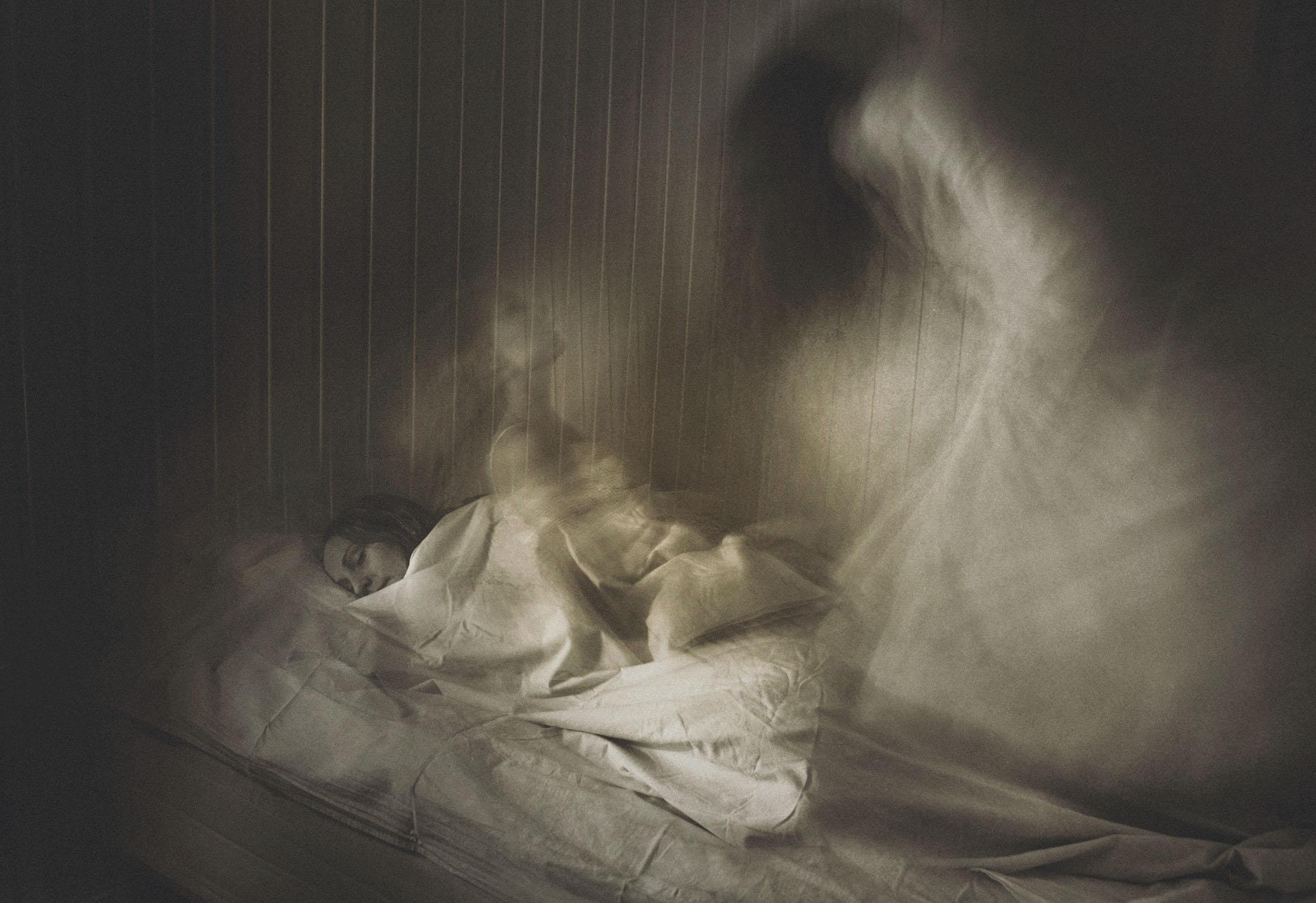 """""""Maran"""", en av mina bildtolkningar av just upplevelsen av sömnparalys."""